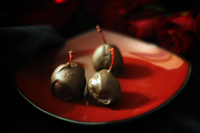 vegan chocolate covered cherries