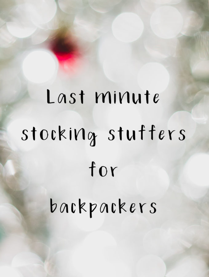 Last minute stocking stuffer for backpackers! #christmas #gift #holiday #backpacking #camping