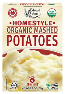 instant vegan potatoes from Edward and Sons
