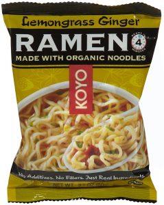 Koyo organic Ramen for camping