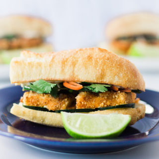 YUMMY!!! Vegan Banh Mi! #vegan #sandwich #lunch #dinner #recipe #food