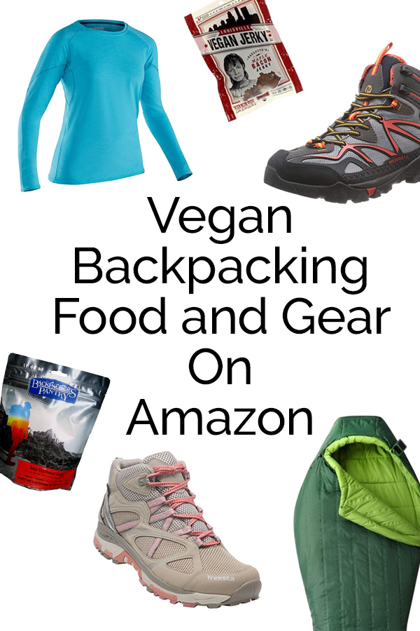 Amazon offers a lot of vegan backpacking options including; food, footwear, and sleeping bags. #vegan #backpacking #bearplate