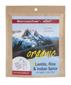 Mary Janes vegan backpacking freeze-dried dinner