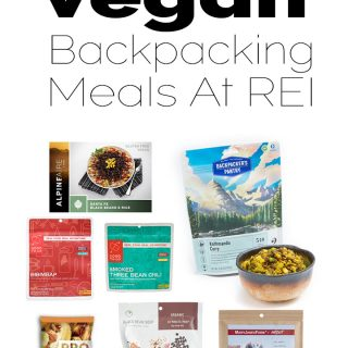Vegan Backpacking Meal At REI