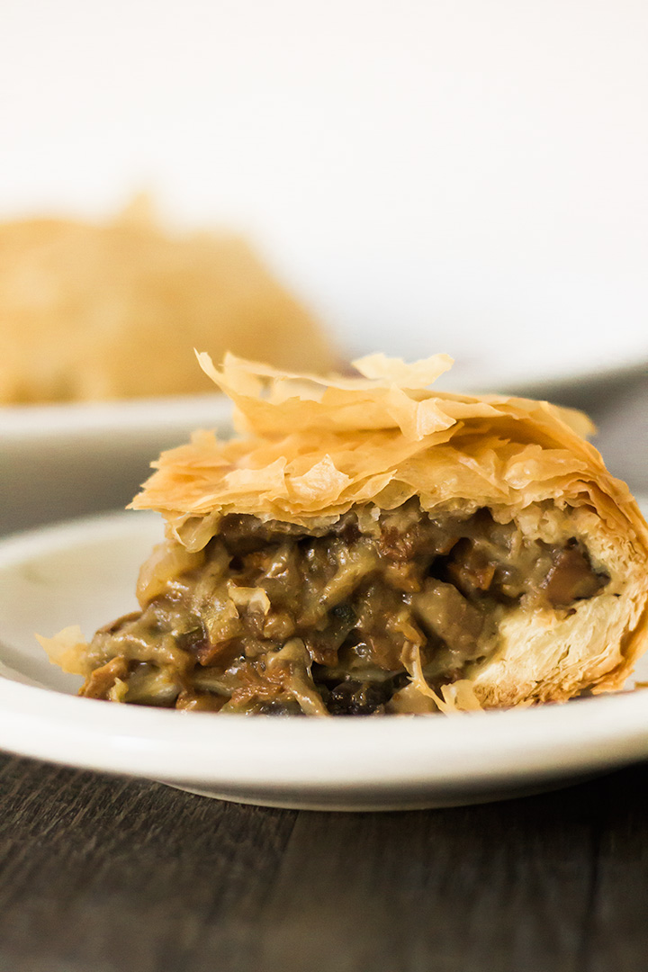 phyllo dough wrapped vegan Holiday Roast