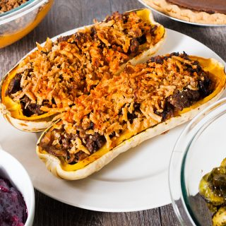 Vegan holiday stuffed squash