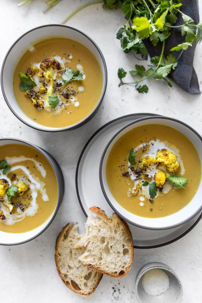 Plant Based Curry Cauliflower Soup
