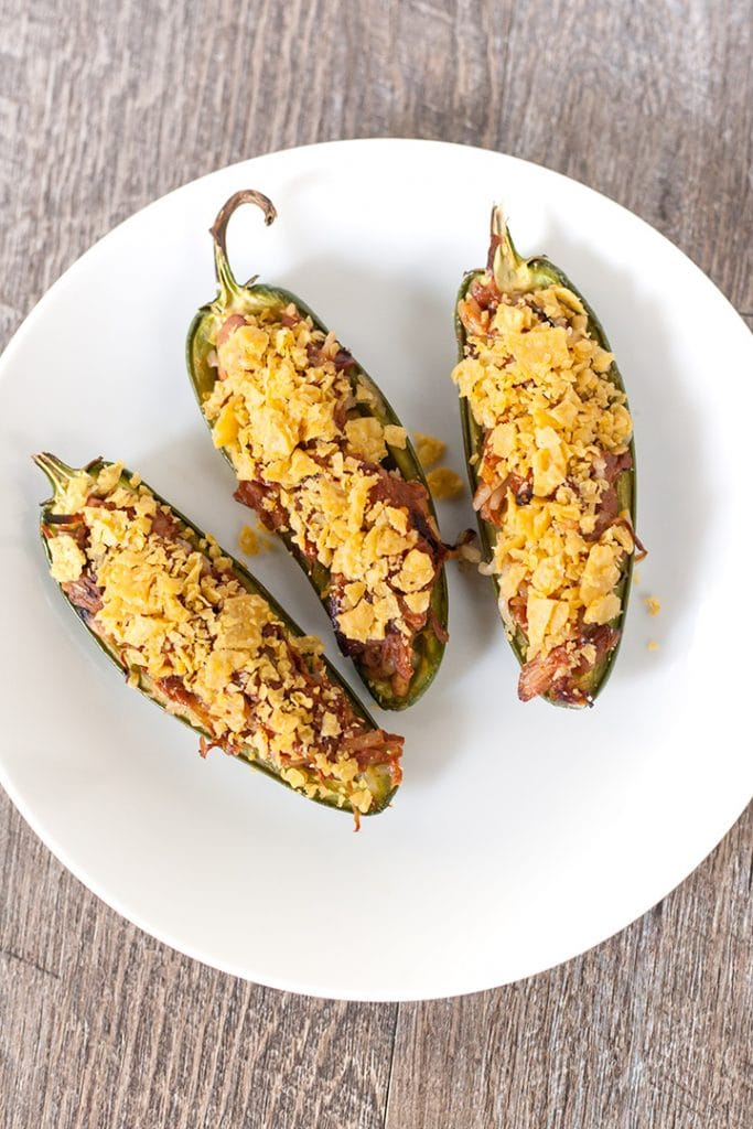 Vegan BBQ Pulled Jackfruit Jalapeno Poppers