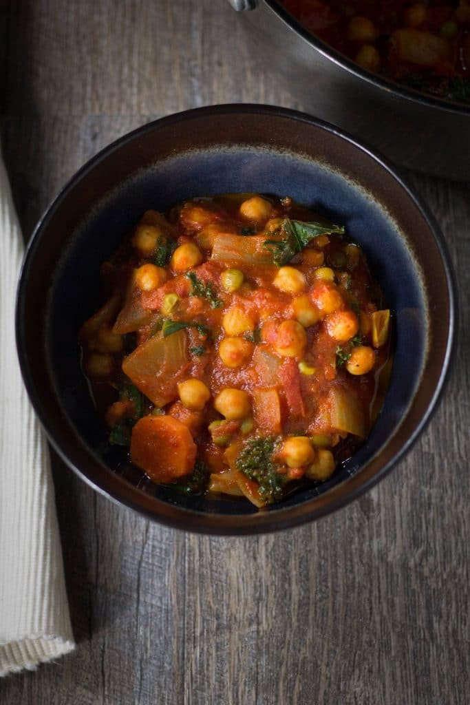 Healthy vegan Chickpea Coconut Curry