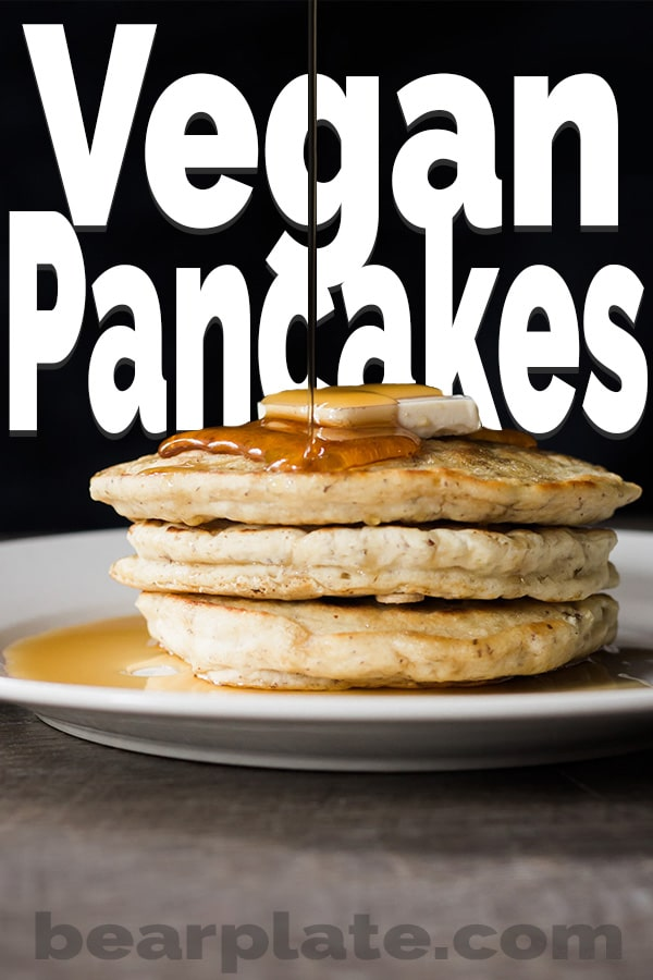 Make fluffy vegan pancakes from scratch with this simple and tasty recipe. Perfect for breakfast or brunch. #vegan #pancakes #breakfast