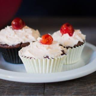 Vegan Chocolate and Cherry Cupcakes