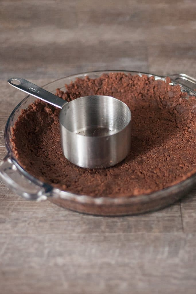Chocolate graham cracker crust.