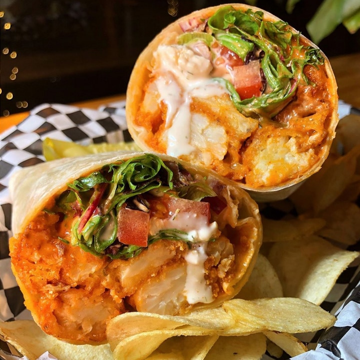 BUFFALO CAULIFLOWER WRAP ON SPECIAL from Berben and Wolff's