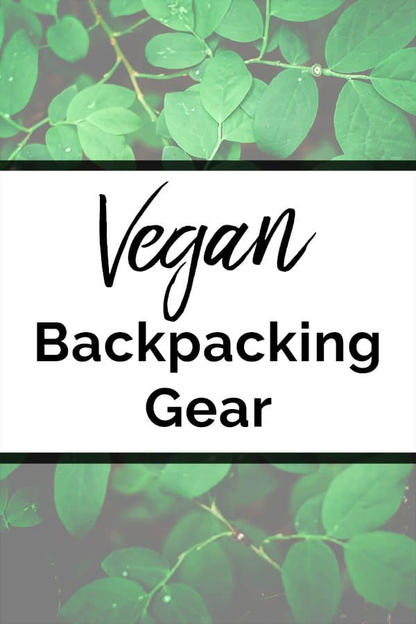 Vegan Backpacking Gear