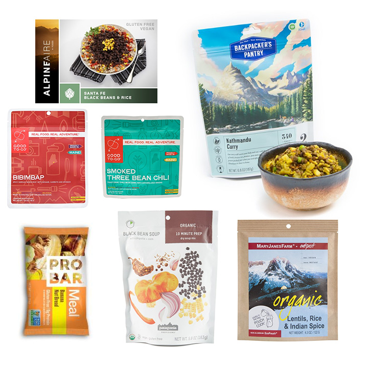 vegan freeze-dried and dehydrated backpacking meals at REI