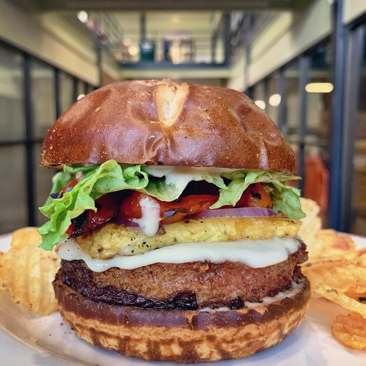 Best vegan restaurants in Syracuse New York: Aloha Burger from Strong Hearts