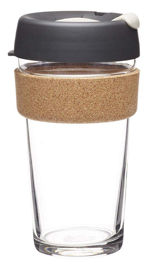 Reusable glass tumbler.
