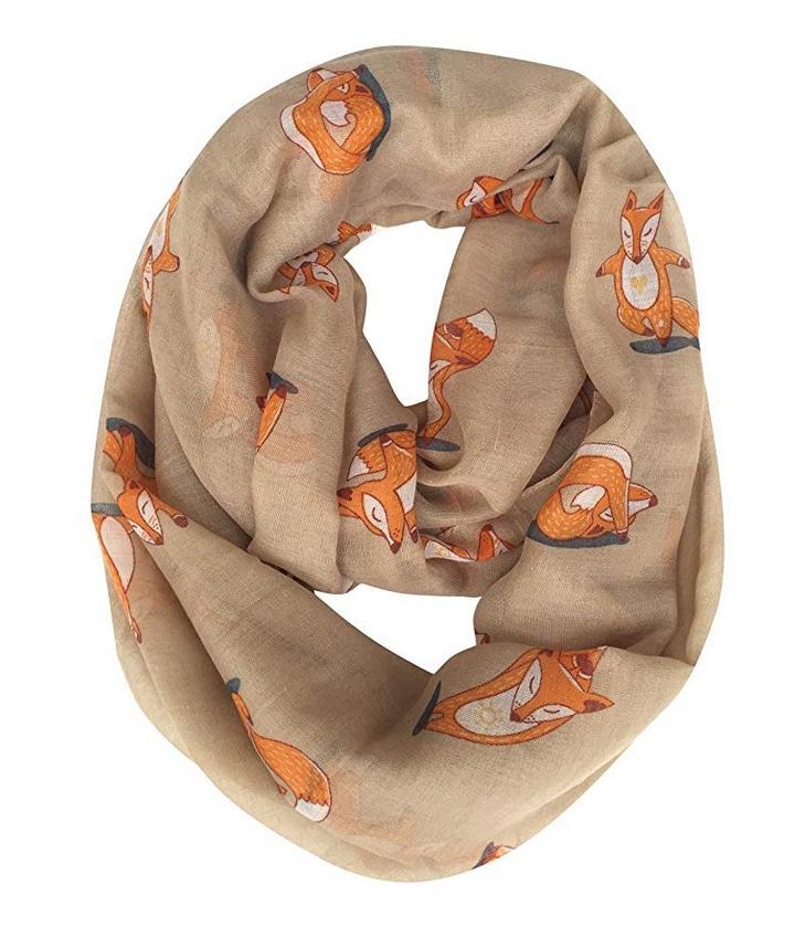 Christmas gift idea: yoga fox scarf