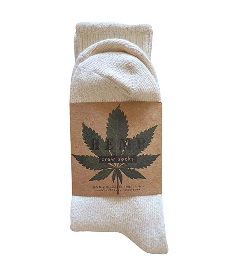 Hemp and cotton socks.