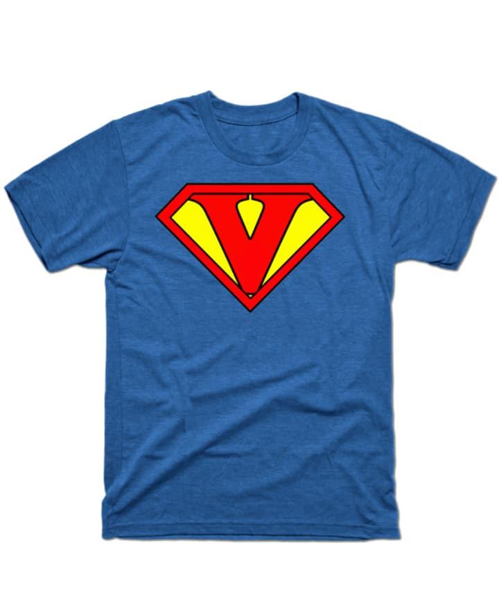 Vegan superhero tee.
