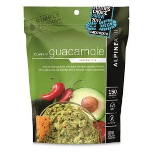 AlpineAire backpacking guacamole mix