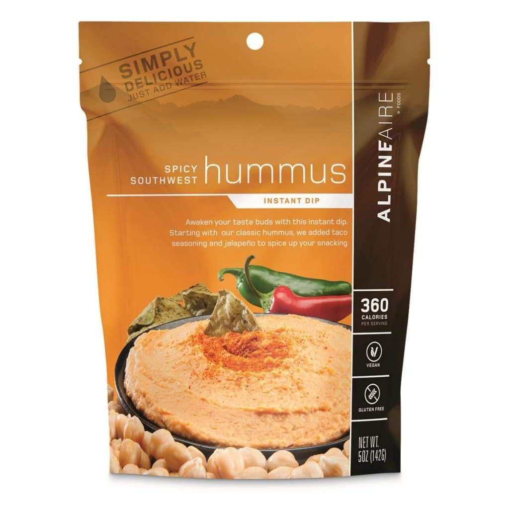 Backpacking hummus mix