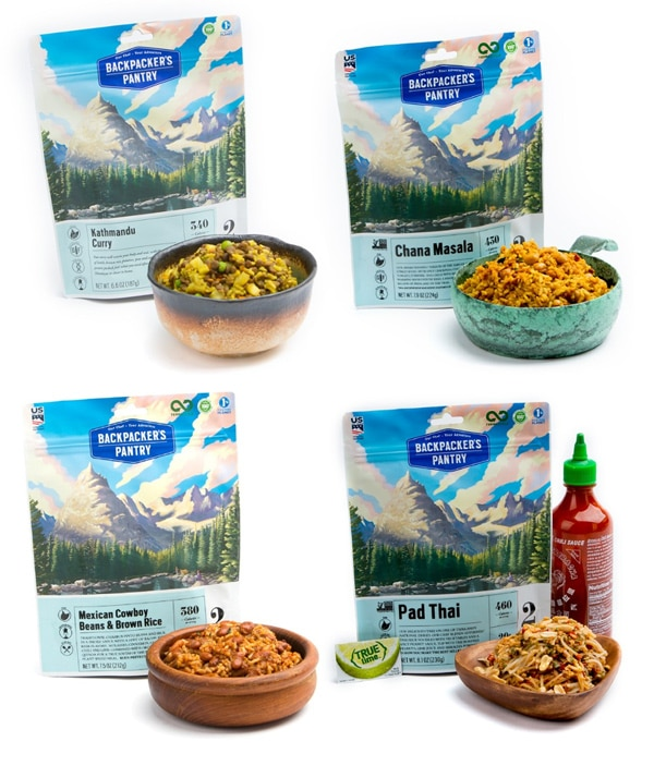 Backpacker's Pantry vegan meals.