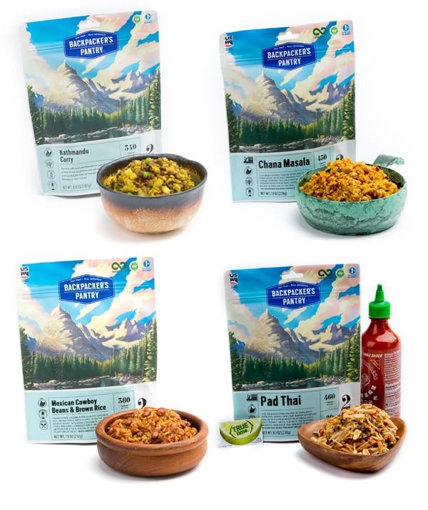 Backpacker's Pantry vegan meals.