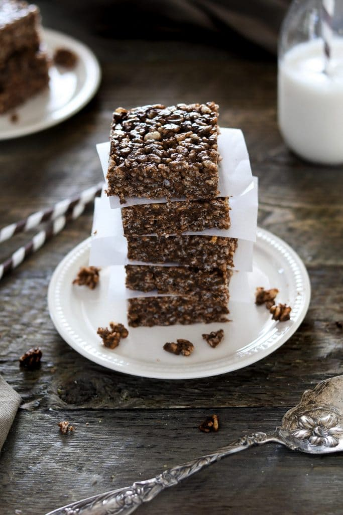 Vegan Recipes For Chocolate Lovers: a stack of crunch bars
