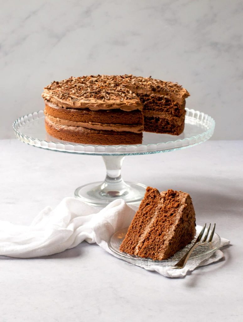 A vegan chocolate cake